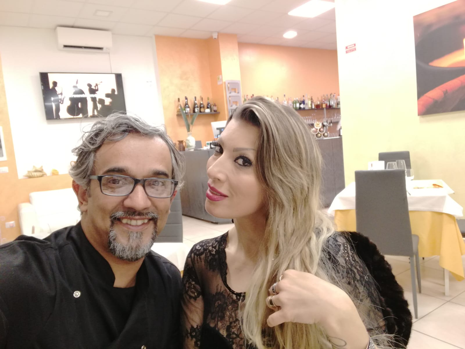 Barbara Morris e lo chef Pezzuol